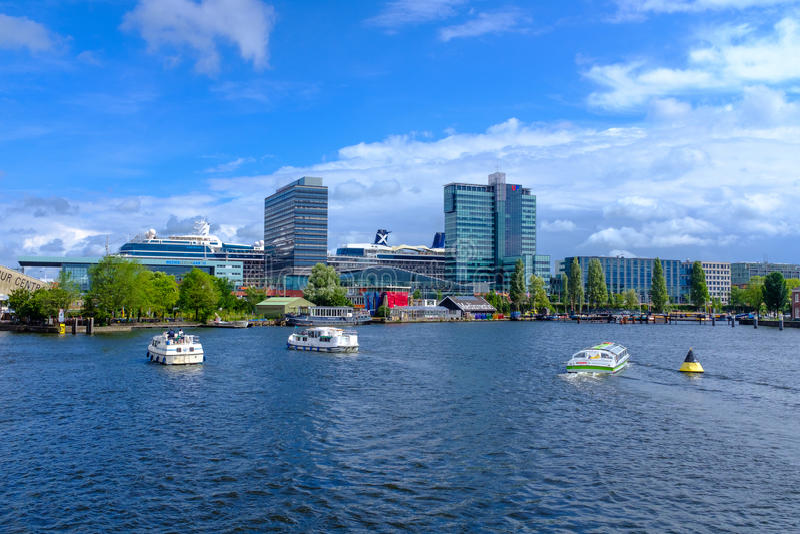 Puerto de Amsterdam imagen de archivo