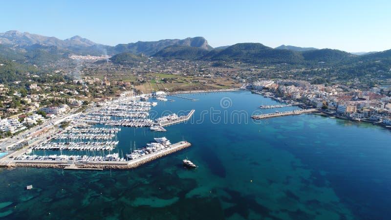 Puerto DE Andrax desde alturas van La stock afbeelding