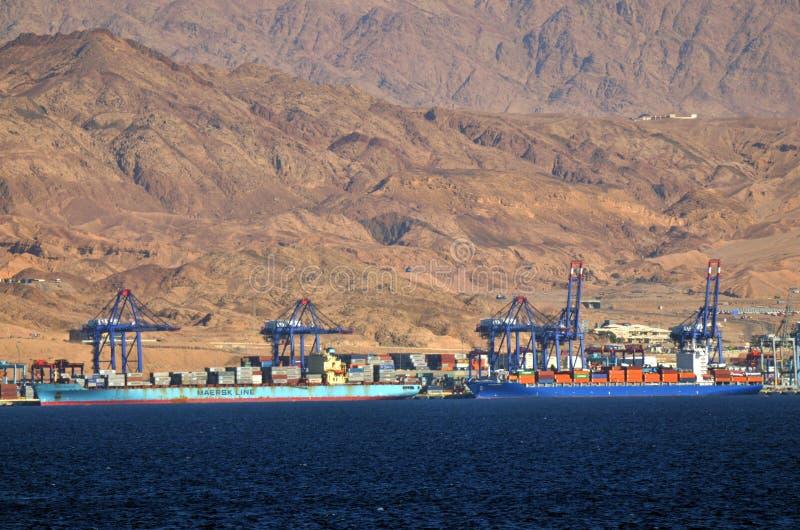 Puerto de Aqaba en Aqaba, Jordania imagen de archivo libre de regalías