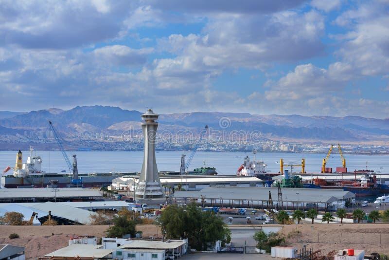 Puerto de Aqaba, Jordania imagenes de archivo