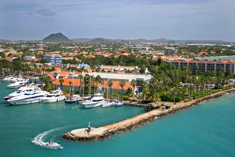 Puerto de Aruba imagen de archivo libre de regalías