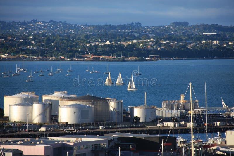 Puerto de Auckland imagenes de archivo