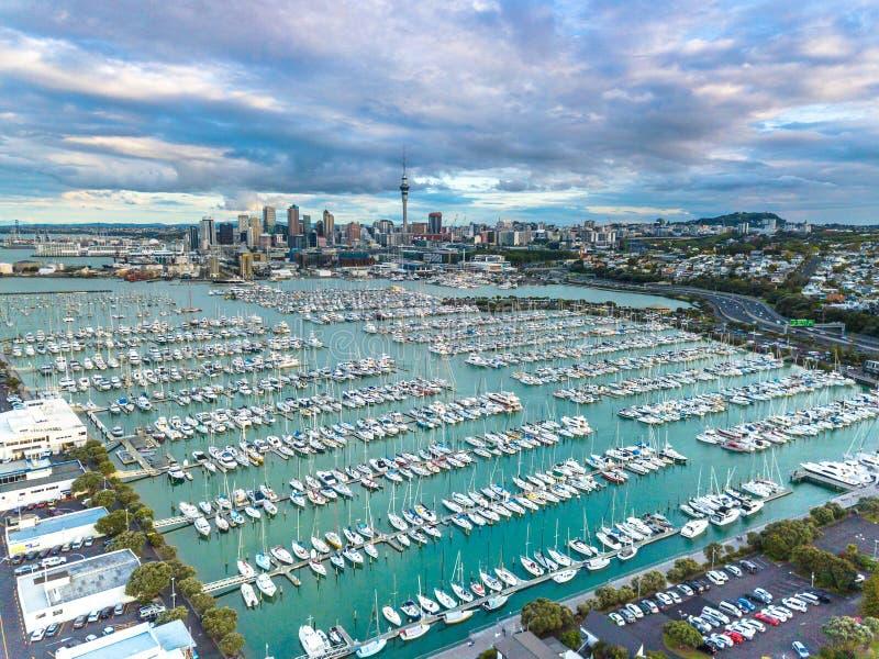 Puerto de Auckland Westhaven fotos de archivo libres de regalías