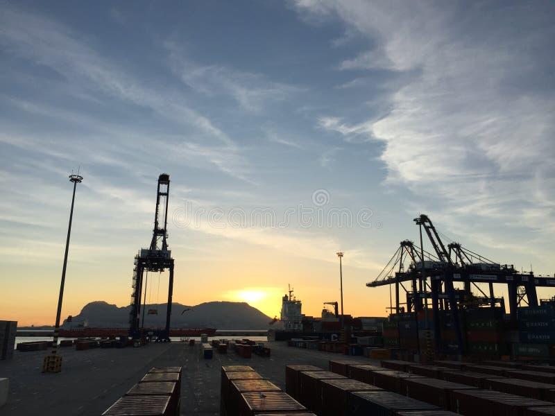 Puerto de bahía de Algeciras, España foto de archivo libre de regalías