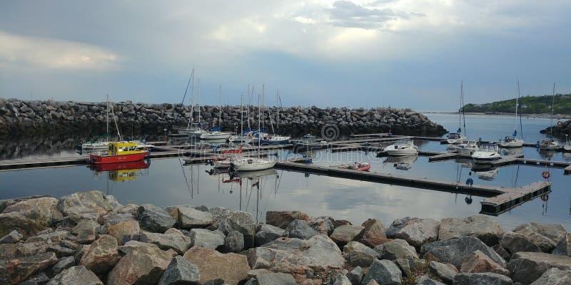 Puerto de Baie-Comeau fotografía de archivo