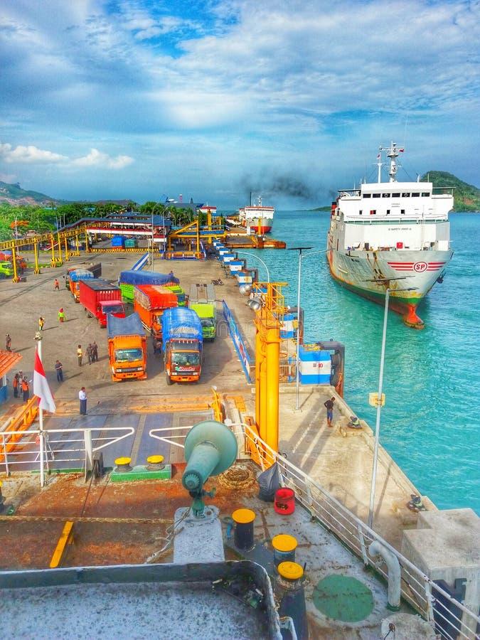 Puerto de Bakauheni imágenes de archivo libres de regalías