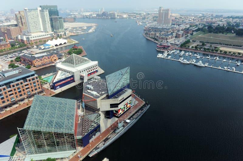 Puerto de Baltimore foto de archivo libre de regalías