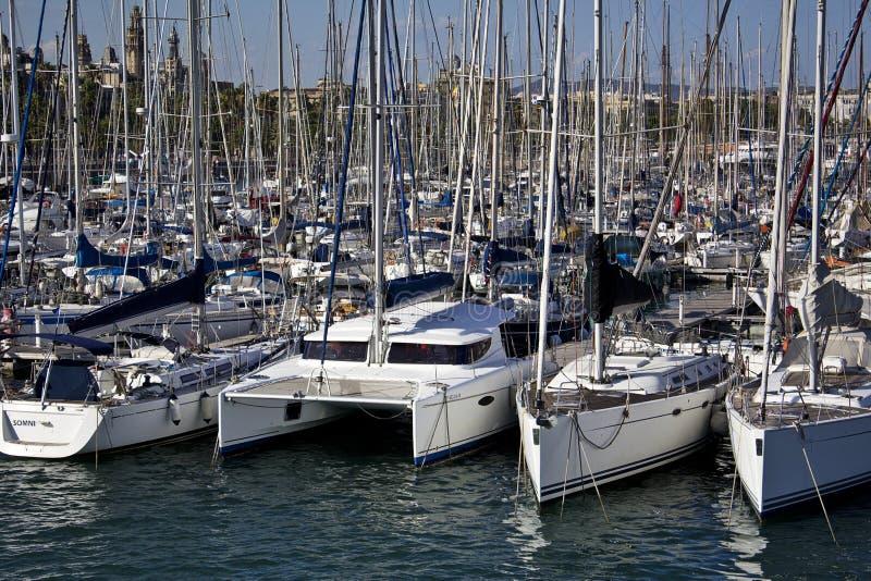 Puerto de Barcelona foto de archivo libre de regalías