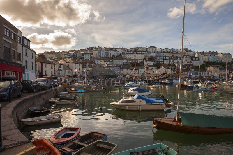 Puerto de Brixham, Devon, Inglaterra imágenes de archivo libres de regalías