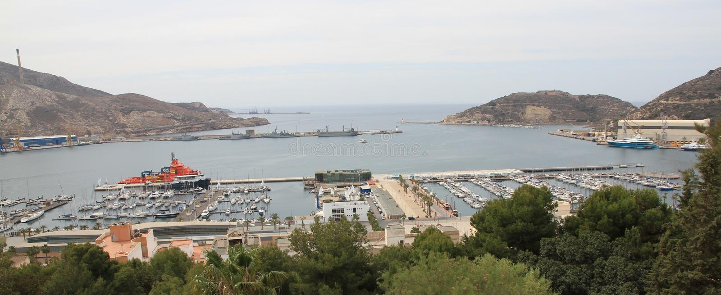 Puerto De Cartagena lizenzfreie stockbilder