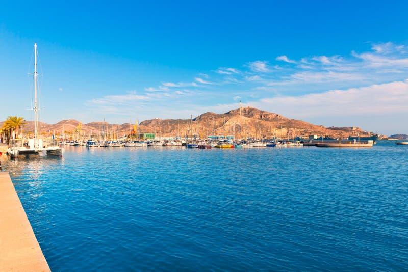 Puerto de Cartagena en Murcia en España mediterránea imagen de archivo libre de regalías