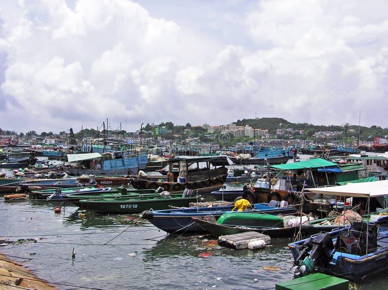 Puerto de Cheung Chau imagen de archivo libre de regalías