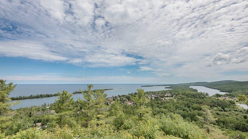 Puerto de cobre, parque del punto del cazador, porteros isla, lago Fanny Hooe, MI imagen de archivo libre de regalías