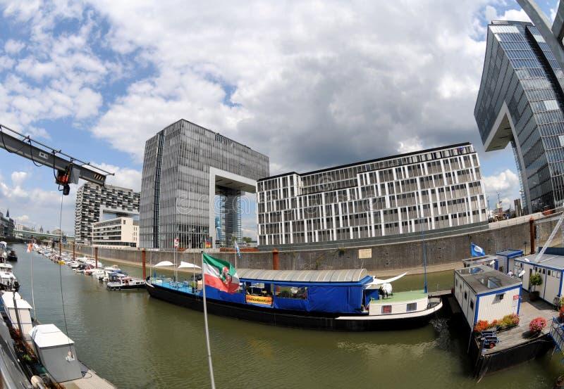 Puerto de Colognme - oficina de Kranhaus foto de archivo libre de regalías
