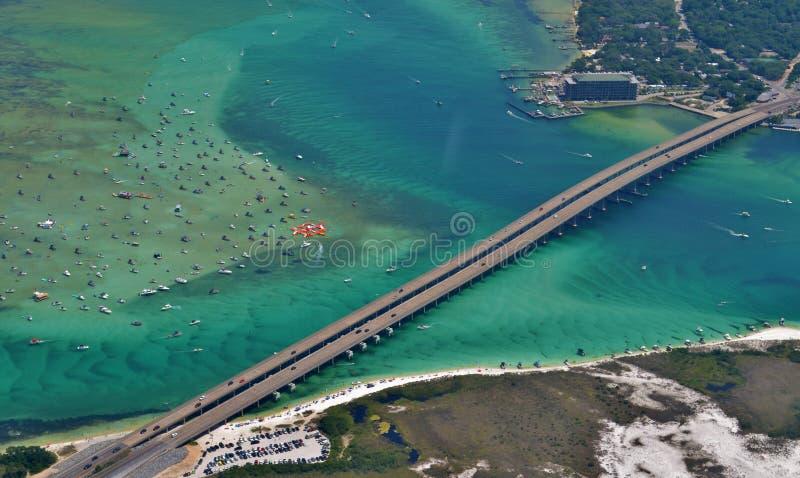 Puerto de Destin en Destin, Forida imagen de archivo libre de regalías