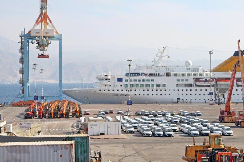 Puerto de Eilat fotografía de archivo