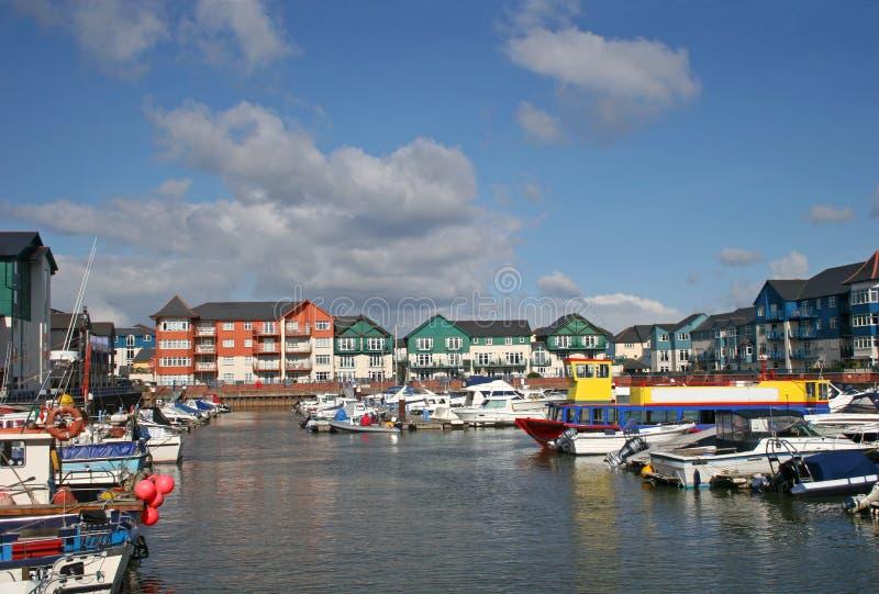 Puerto de Exmouth foto de archivo libre de regalías