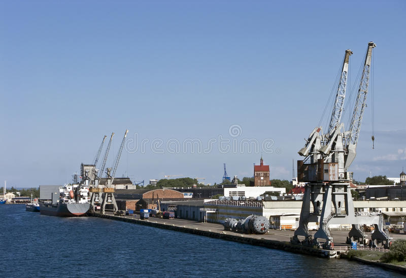 Puerto de Gdansk imagenes de archivo