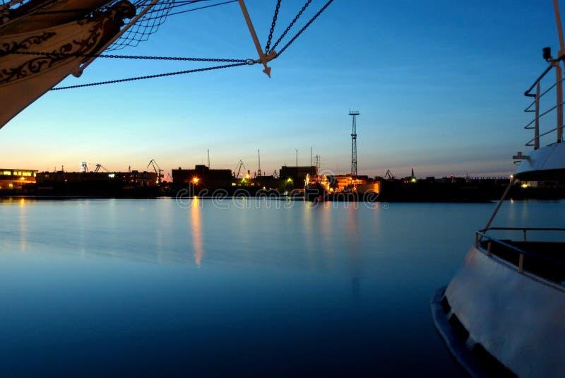 Puerto de Gdynia imagen de archivo libre de regalías