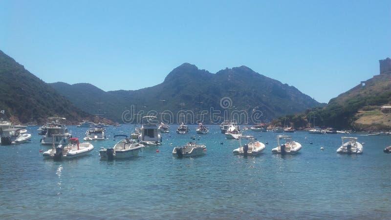 Puerto de Girolata fotos de archivo