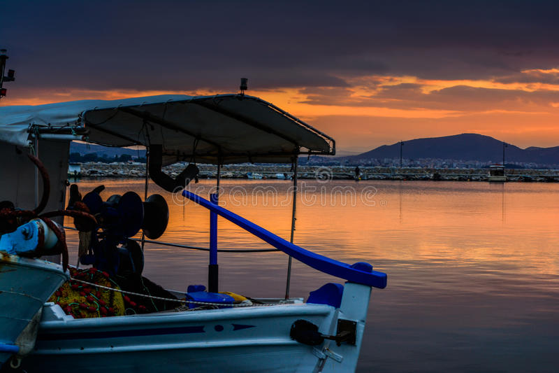 Puerto de Grecia imagen de archivo libre de regalías