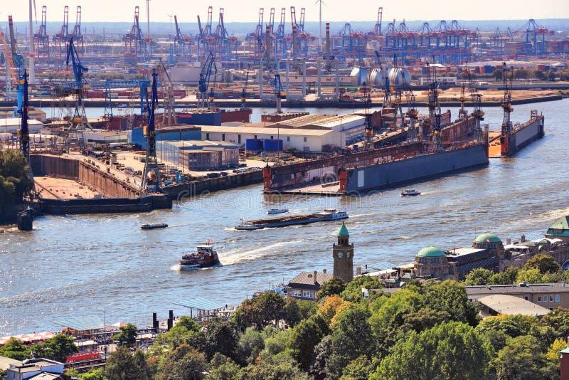 Puerto de Hamburgo fotografía de archivo libre de regalías