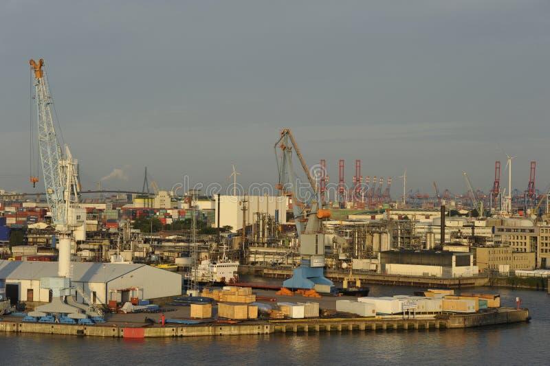 Puerto de Hamburgo, Alemania imágenes de archivo libres de regalías