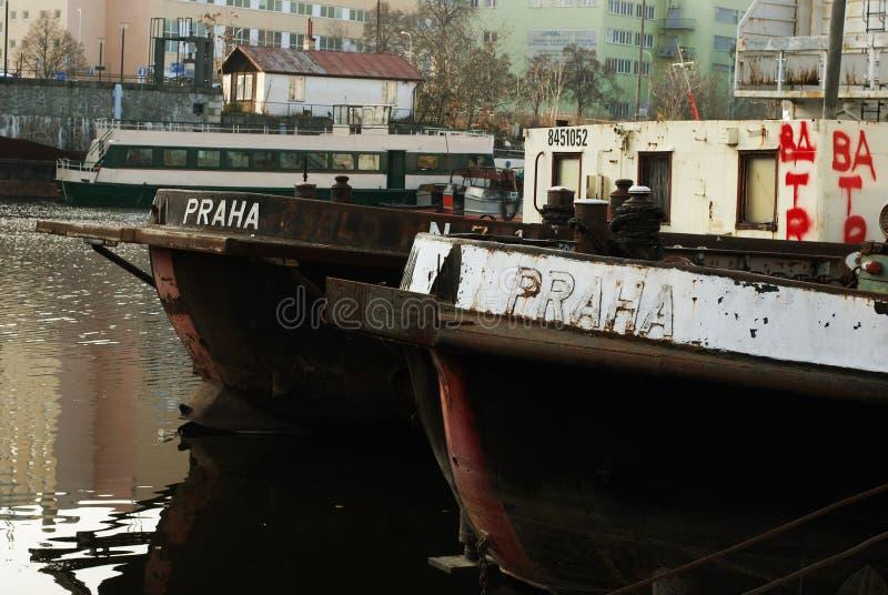 Puerto de Holesovice, Praga imagenes de archivo