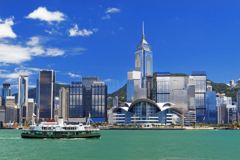 Puerto de Hong Kong fotos de archivo libres de regalías