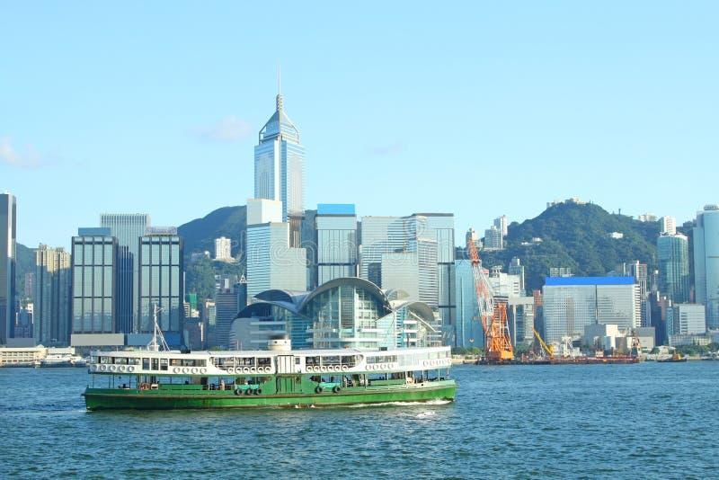 Puerto de Hong-Kong y transbordador de la estrella imagen de archivo libre de regalías
