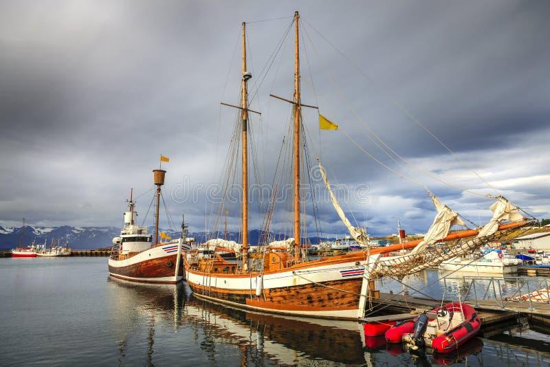 Puerto de Husavik imagen de archivo libre de regalías