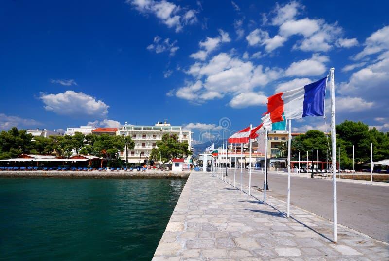 Puerto de Itea, ciudad en Grecee fotografía de archivo