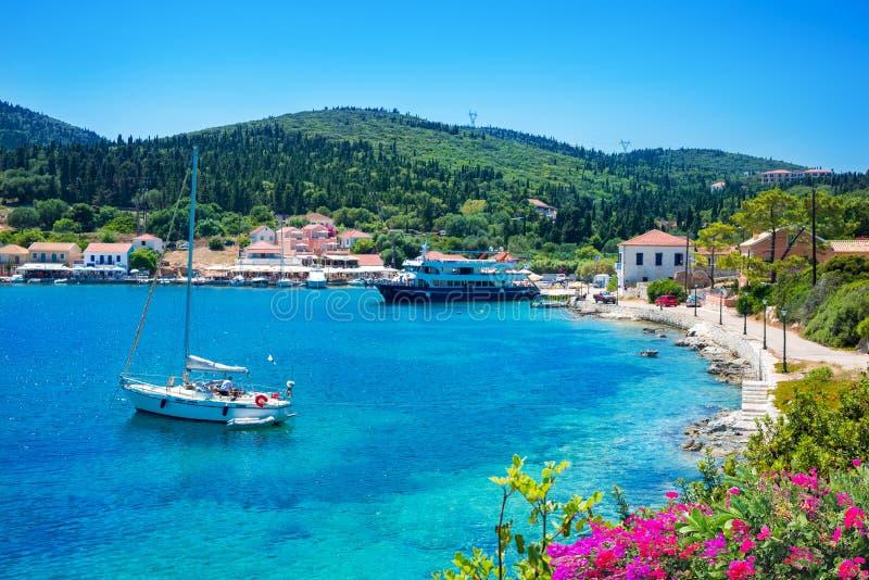 Puerto de Kefalonia, Grecia fotos de archivo libres de regalías