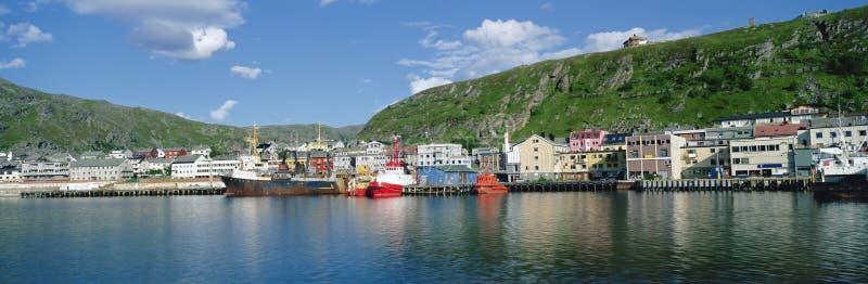 Puerto de Kirkenes del panorama fotografía de archivo