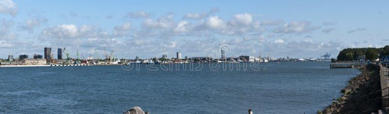 Puerto de Klaipeda, Lituania fotografía de archivo libre de regalías