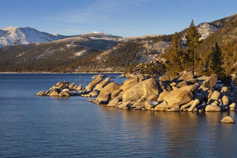 Puerto de la arena, el lago Tahoe, Nevada fotografía de archivo libre de regalías