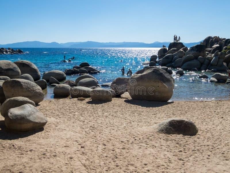 Puerto de la arena, Lake Tahoe imagenes de archivo