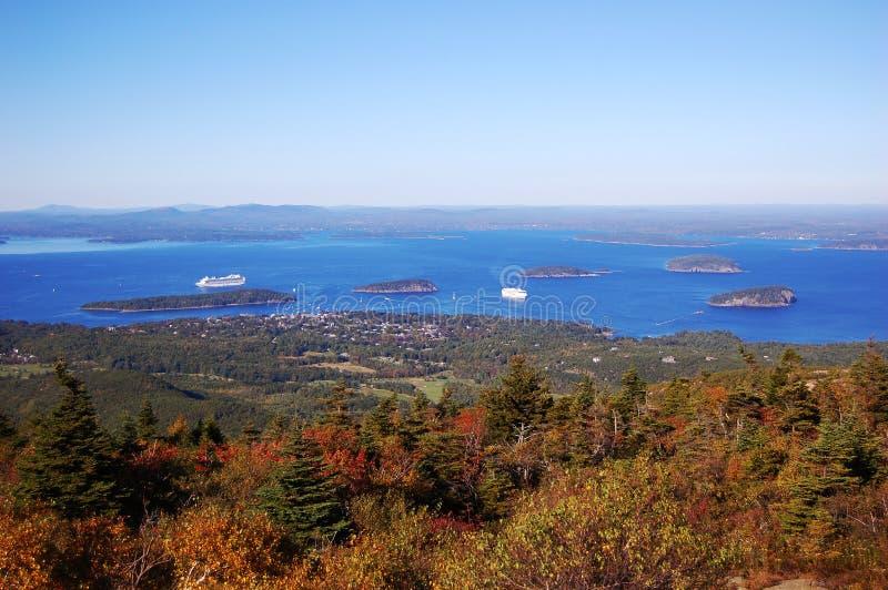 Puerto de la barra, parque nacional del Acadia imagen de archivo