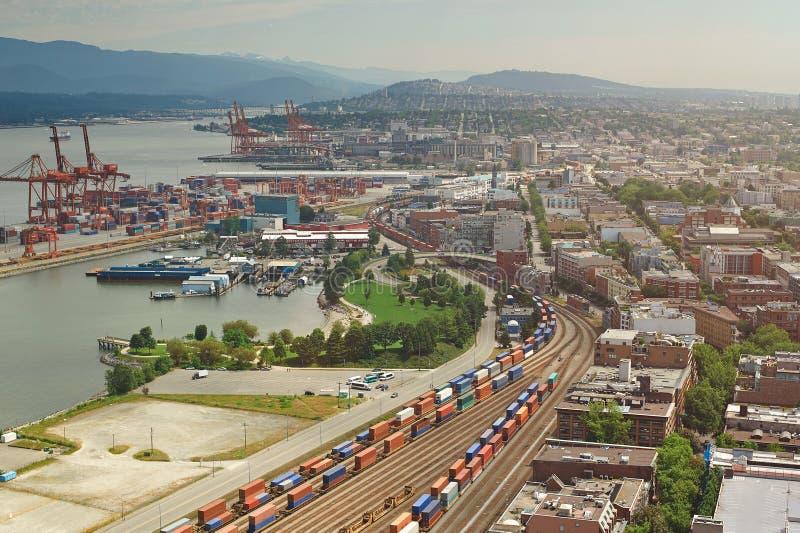Puerto de la carga de Vancouver imagen de archivo libre de regalías