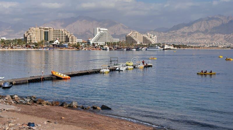 Puerto de la ciudad de Eilat fotografía de archivo libre de regalías