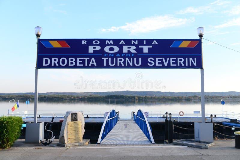 Puerto de la ciudad de Drobeta imagenes de archivo