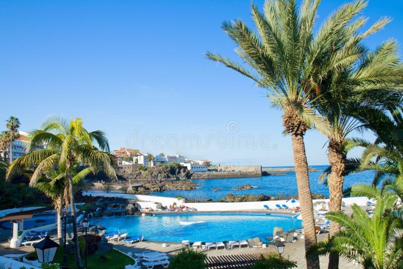 Puerto de la Cruz,特内里费岛 免版税库存图片