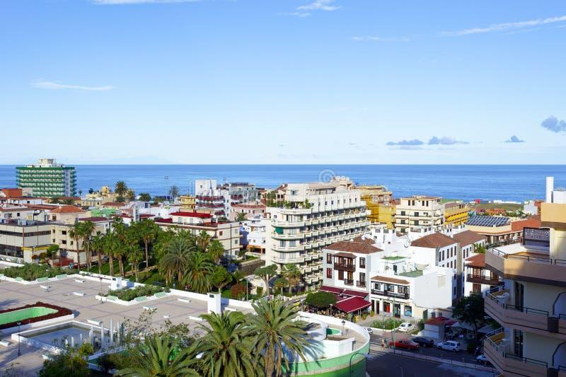 Puerto de la Cruz. View of the city Puerto de la Cruz, Tenerife / Spain, Dezember 2012 stock image