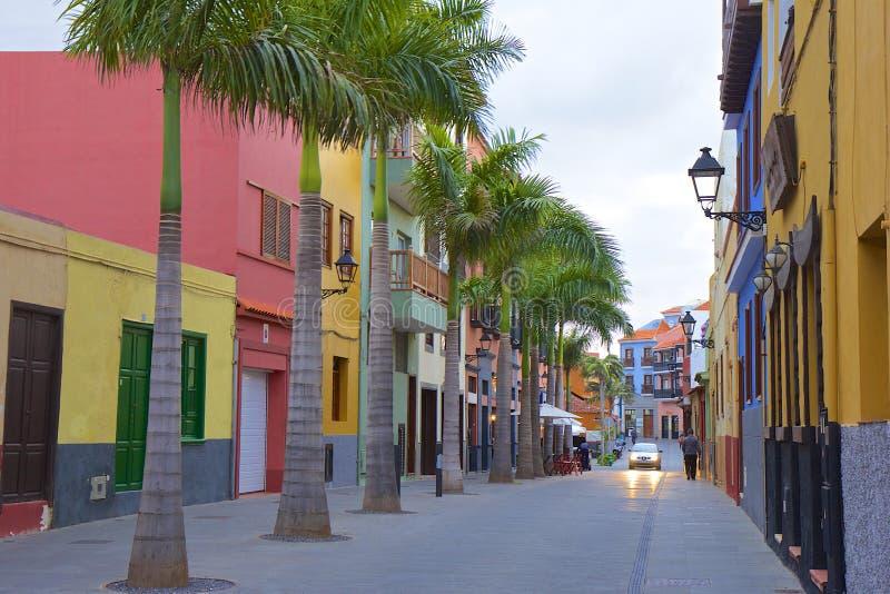 Puerto de la Cruz em Tenerife, Ilhas Canárias foto de stock royalty free