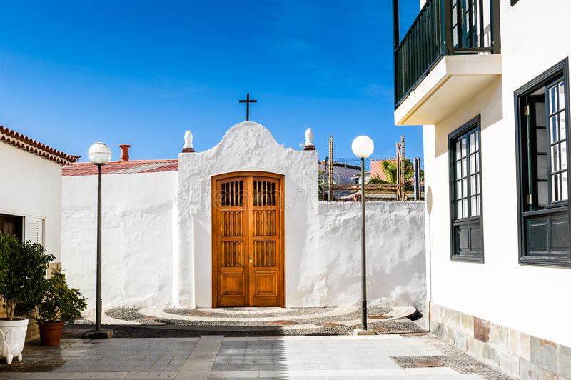 Puerto de la Cruz kyrka royaltyfri foto