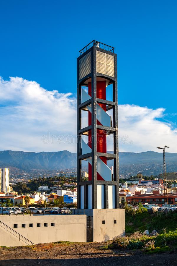 2019-01-12, Puerto de la Cruz, Santa Cruz de Tenerife stock image