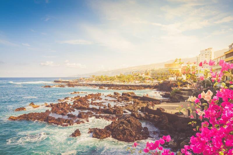 Puerto de la Cruz, Tenerife stock foto