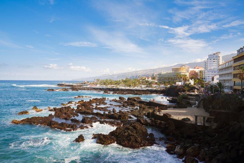 Puerto de la Cruz, Tenerife stock foto's