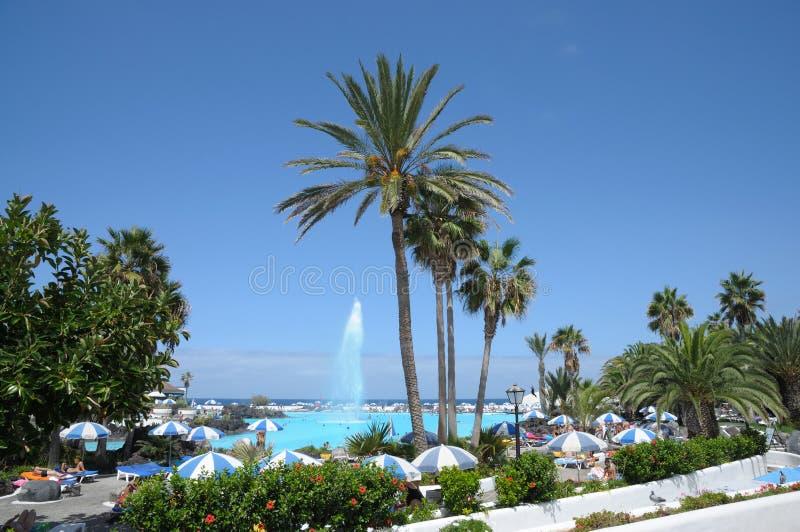 Puerto DE La Cruz, Tenerife Spanje stock afbeelding