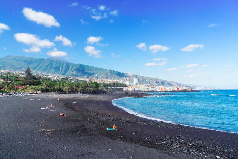 Puerto de la Cruz, Tenerife immagini stock libere da diritti